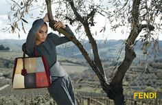 Karl Lagerfeld for Fendi A/H 2012/2013 with Joan Smalls - Série baptisée Una Gionata Toscana shootée dans la région de Chianti près de Florence
