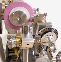 Details of cam grinder based on mechanical copying of a master pattern - this device is for precision grinding of hardened model engine camshafts.