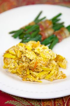 Squash Casserole - squash, peppers, onions, cheese - a family tradition at Thanksgiving!