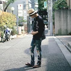 [Street Style] くろ | Apparel | Harajuku  (Tokyo)