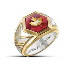 """""""Lest We Forget"""" Remembrance Men's Ring Bradford Exchange, Lest We Forget, Rings For Men, Accessories, Men Rings, Jewelry Accessories"""