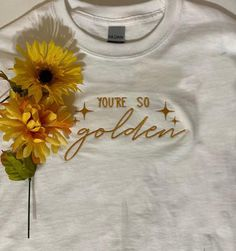 You're So Golden Embroidered T-shirt Harry Styles T Shirt, Harry Styles Clothes, Harry Styles Concert, Cute Embroidery, Embroidery Patterns, T Shirt Embroidery, Batik, Embroidered Clothes, Sorority Canvas
