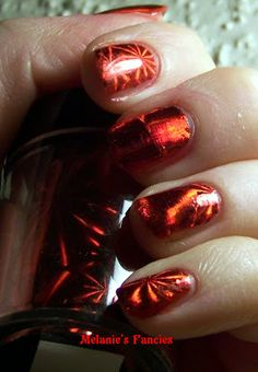 Melanie's Fancies: Review: KKCenterHk Red Laser Pattern Nail Foil Transfer
