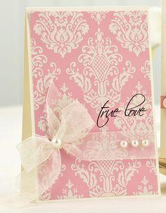 True Love Card..Elegant Simplicity..By: Ashley Harris