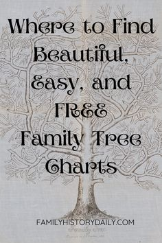 Family Tree Research, Family Tree Chart, Free Family Tree, Free Genealogy Sites, Genealogy Chart, Family Genealogy, Pedigree Chart, Family History Book, Display