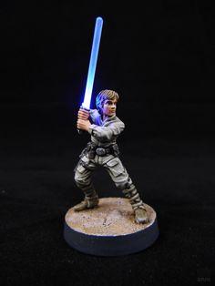 Star Wars Legion: Luke Skywalker (LED Saber Mod) – arts-n-more. Sci Fi Miniatures, Warhammer 40k Miniatures, Star Wars Figurines, Star Wars Toys, Luke Skywalker, Star Wars Imperial Assault, Star Wars Painting, Star Wars Models, Minis