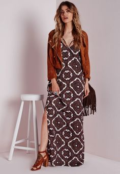 Boho maxi dress, suede jacket & fringe purse | And It Only Cost Me: 11 Festival Finds under $90 #theeverygirl