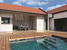 De plain-pied Cladding, Decoration, My Dream Home, Swimming Pools, How To Plan, Architecture, House Styles, Building, Outdoor Decor