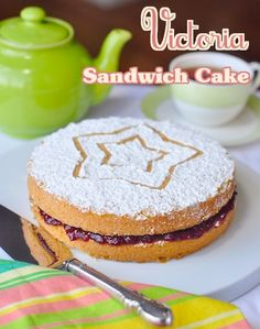 Classic Victoria Sandwich Cake - a teatime favourite! This classic British cake is a bake sale icon and much loved nationwide as the perfect teatime treat.