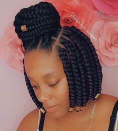Braided Cornrow Hairstyles, Box Braids Bob, Box Braids Hairstyles For Black Women, Braids Hairstyles Pictures, Braids For Short Hair, African Braids Hairstyles, Twist Hairstyles, Short Hair Styles, Gorgeous Hairstyles