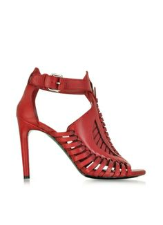 Someone Please buy these for me!!!! Proenza Schouler Red Woven Leather Sandal-