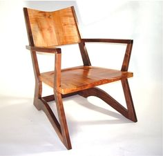 walnut chair by Aaron Smith Woodworking