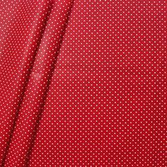 """Baumwollstoff beschichtet """"Punkte klein"""" in Rot"""