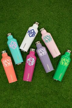 Monogrammed Corkcicle Canteen - The Pink Lily Monogram Stickers, Vinyl Monogram, Monogram Water Bottle, Swell Bottle, Tea Reading, Vinyl Gifts, Friend Birthday Gifts, Gifts For Your Mom, Canteen