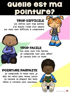 Comment choisir un livre à ma pointure? Education And Literacy, Inquiry Based Learning, French Teaching Resources, Teaching French, Read In French, Daily 5 Reading, Daily Five, Word Work Activities, French Classroom