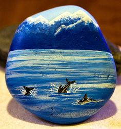 A rock from Kaikoura, New Zealand that I brought home and painted. :)