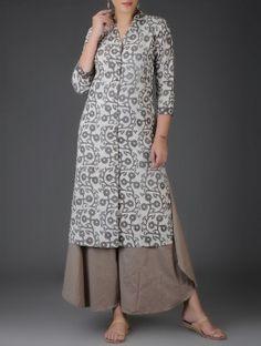Brown Elasticated Waist Cotton Palazzos African Fashion, Indian Fashion, Beautiful Dresses, Nice Dresses, Kurtis With Pants, Kurti Patterns, Frock Design, Kurti Pants, Plazzo Pants