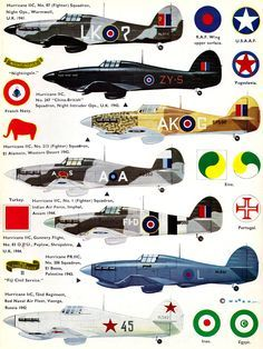 Profils aviation - Camouflage : Décals et documentation avions d'occasion Ww2 Aircraft, Fighter Aircraft, Military Aircraft, Hawker Hurricane, Aircraft Painting, Ww2 Planes, Battle Of Britain, Royal Air Force, Nose Art