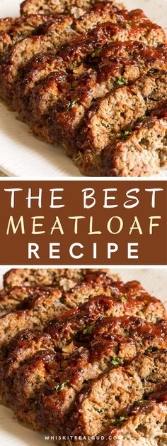 Beef Recipes For Dinner, Ground Beef Recipes, Pork Recipes, Chicken Recipes, Oven Recipes, Good Meatloaf Recipe, Best Meatloaf, Healthy Meatloaf Recipes, Ground Beef