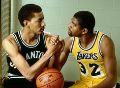 George Iceman Gervin and Magic Johnson. Legends!!!