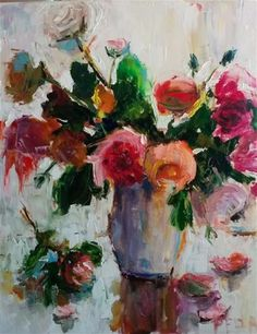 """Daily Paintworks - """"Roses Forever"""" - Original Fine Art for Sale - © pepa sand"""