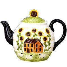 Ceramic Collection Summer Farm Ceramic Teapot, 52oz + Free RCS Key Chain Red Co. http://www.amazon.com/dp/B00K8GSFD0/ref=cm_sw_r_pi_dp_PZlVtb1EKX22H59W