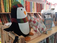 Jolly Penguin - this little chap sold out very quickly. The panels are back in stock. Also appearing in the hop for autographs and cuddles.