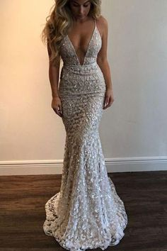 Lace Prom Dresses #LacePromDresses, Sexy Prom Dresses #SexyPromDresses, Prom Dresses 2018 #PromDresses2018, Mermaid Prom Dresses #MermaidPromDresses