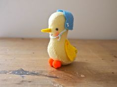 Easter chick felt mini soft sculpture artists doll Amelia