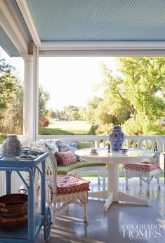 source?     Dallas does not lend itself to the desire for a porch. Not for me, anyway. Maybe in the fall, a porch would be nice, but in ...