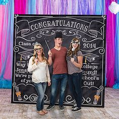 Graduation Chalkboard Photobooth Prop