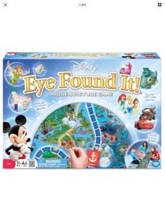 World of Disney Eye Found It Cinderella Family Fun Teamwork Team Time Board Game #WonderForge