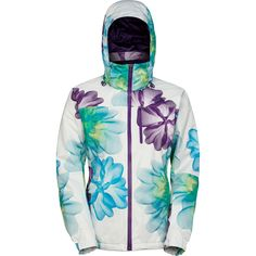 The North Face Snow Cougar Print Jacket - Women's - Very cool and unusual jacket with a hood built in, but very feminine indeed (on sale at the time of this posting)