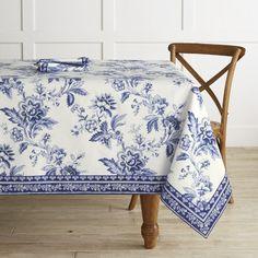 AERIN Fairfield Palampore Tablecloth #williamssonoma
