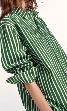 Jokapoika 2017 shirt - green, off-white - New in - Clothing - Marimekko.com