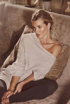 Go to bed with Rosie: Rosie Huntington-Whiteley has unveiled her new sleepwear range with M&S but still finds it hard to get her head around...