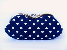 Glasses case Indigo Navy blue Heart Rainbow by LuckyCatHandmade, €22.00
