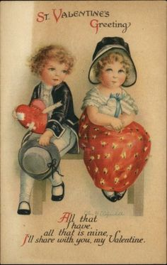 Clapsaddle Valentine Little Boy w Wounded Heart c1910 Postcard | eBay