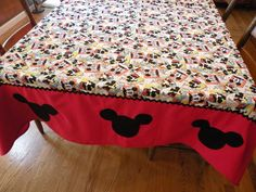 Mickey Mouse tablecloth..How cute is this?