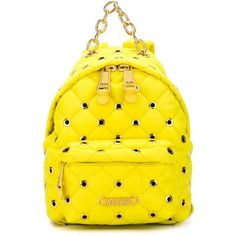 Moschino Eyelet Embellished Backpack (6,850 MXN) ❤ liked on Polyvore featuring bags, backpacks, hardware bag, zip top bag, rucksack bag, day pack backpack and decorating bags