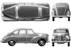1953 Jowett Javelin Sedan blueprint