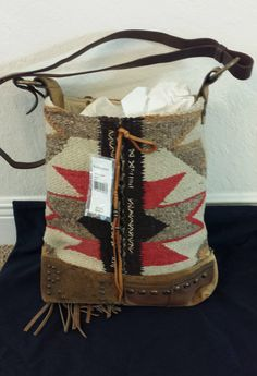 26115ae71f Ralph Lauren Printed Blanket Bucket Bag   made in USA   Authentic   no  reserve