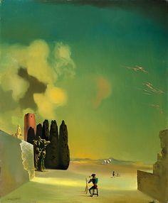 Salvador Dali, landscape with misterious details, 1934