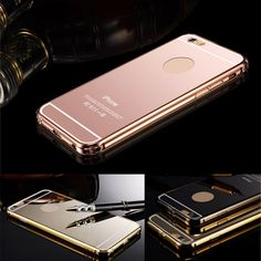 "Luxury Aluminum Ultra-thin Mirror Metal Case Cover for iPhone 6 4.7"" Plus 5.5"""