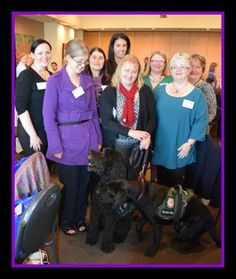 Women's Connect Luncheon - Sept 2015 with our clients and friends and extra VIP doggy friends from Dogs for Kids with Disabilities.