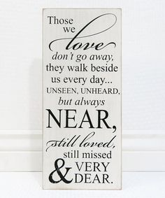 Look what I found on #zulily! 'Don't Go Away' Wood Sign #zulilyfinds $22 / $14.99