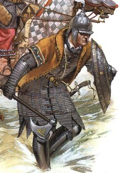 Osprey illustration - Ottoman Janissary, early 16th Century. These slave-soldiers were the Turkish Infantry equivalent of the Egyptian Mamluks.