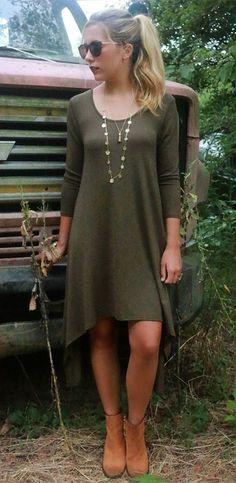 Asymmetrical Hem Hi-Low Midi Dress