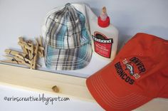 9 DIY Hat Rack Ideas for Any Home – EnthusiastHome – Hanger rack Diy Hat Rack, Hanger Rack, Cap Rack, Diy Jewelry Holder, Jewelry Hanger, Broncos, Hat Organization, Shoes Organizer, Organizing Hats