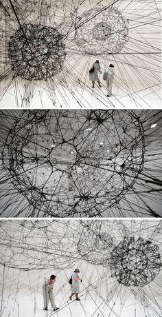 TOMAS SARACENO Galaxy forming along filaments, like droplets along the strands of a spiders la biennale di venezia